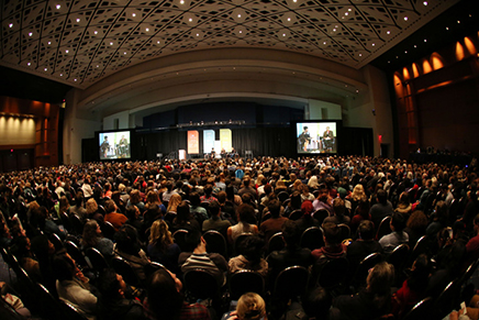 Crowd at an AWP event