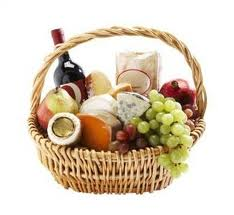 Basket of great food for food lovers