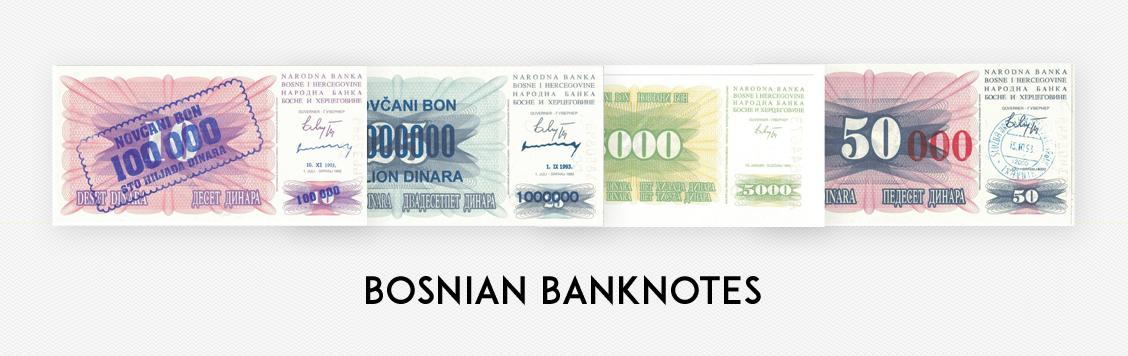 Bosnian banknotes