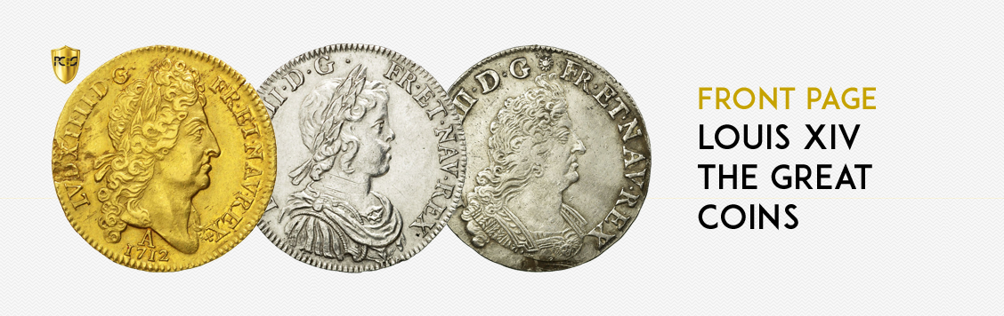 Front page: Louis XIV the Great coins