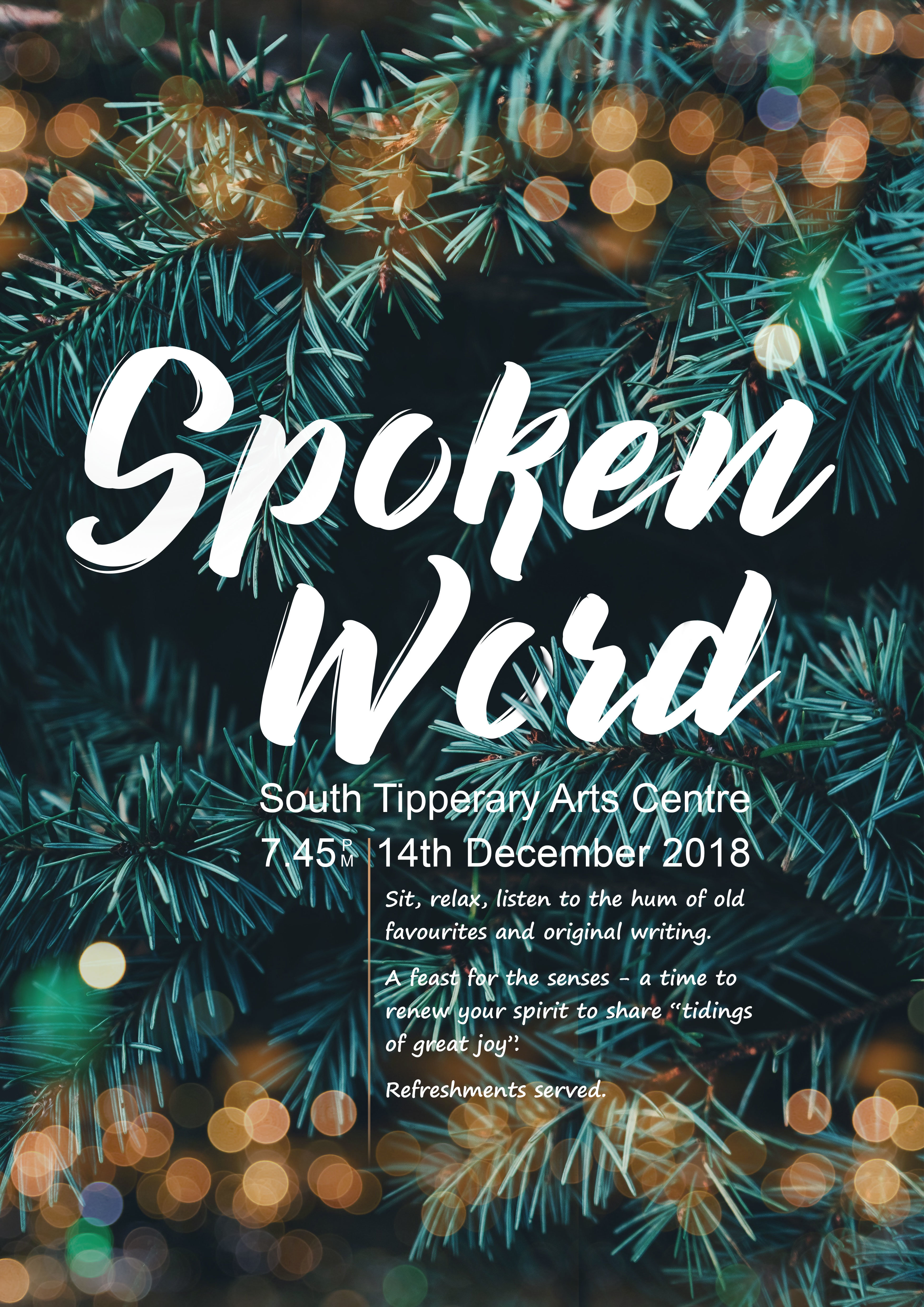 Spoken Word/Open Mic @ The South Tipperary Arts Centre @ South Tipperary Arts Centre