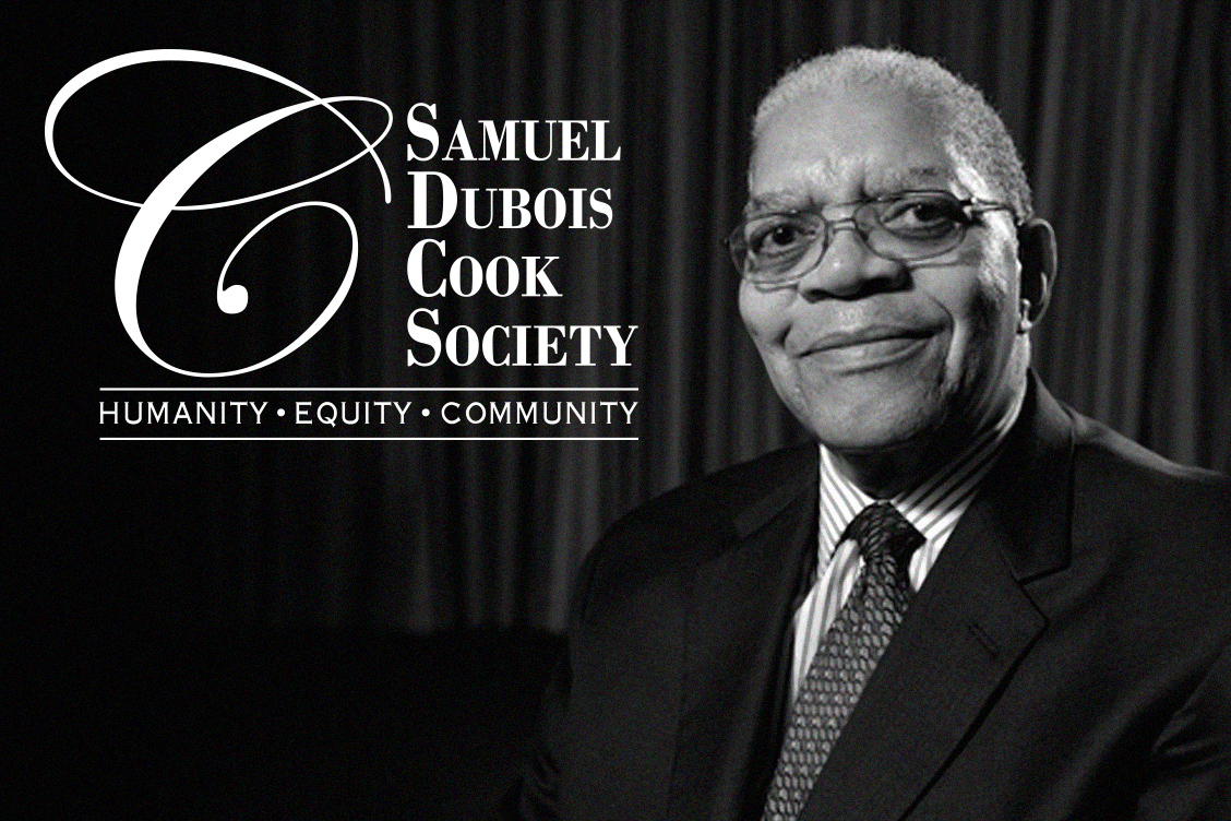 Cook Society Logo and Image of Dr. Cook