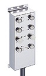 Junction Box, Micro M12 Stainless Steel housing with built in LED