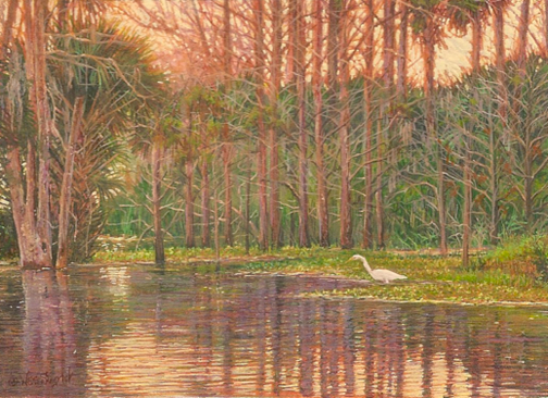 Florida landscape painting by Wes Siegrist