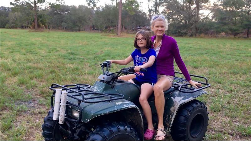 Rachelle Siegrist Four wheeling with her niece