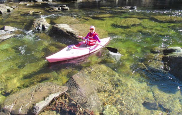 Rachelle Siegrist kayaking in Tennessee