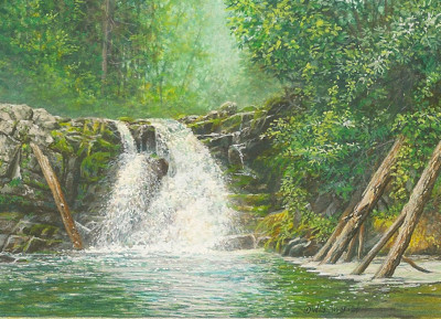 Abrams Falls painting by Wes Siegrist