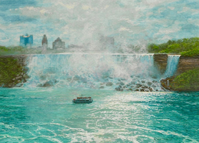 Niagara Falls painting by Wes Siegrist