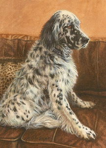 Dog painting by Rachelle Siegrist