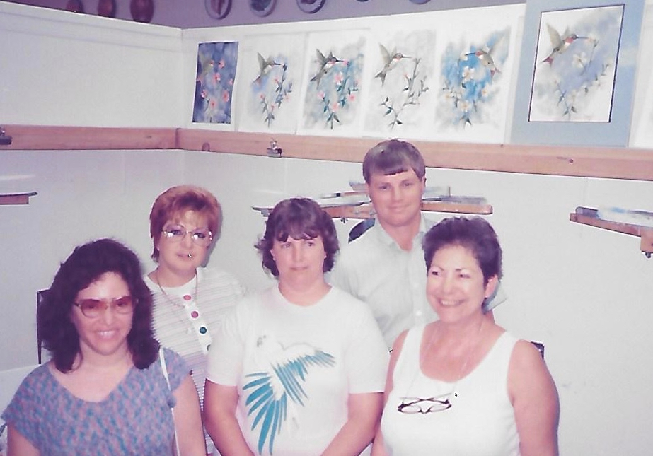 Wes teaching class in 1988
