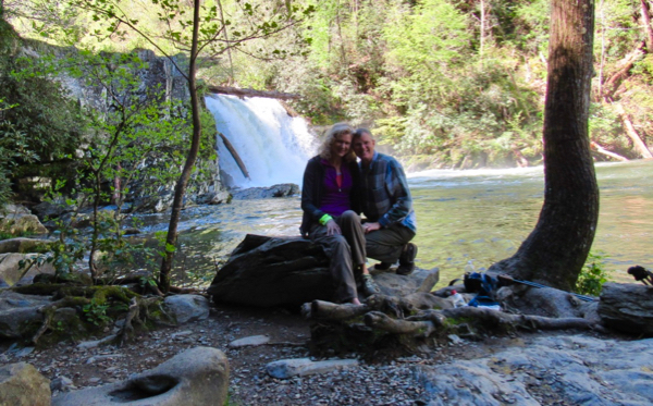 Wes and Rachelle Siegrist at Abrams Falls in GSMNP