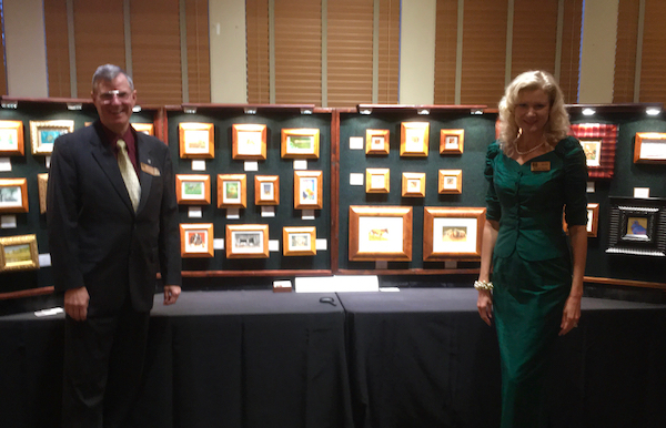Wes and Rachelle Siegrist at the 24th Plantation Wildlife Arts Festival