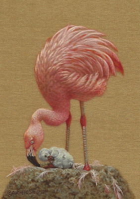 Flamingo painting by Rachelle Siegrist