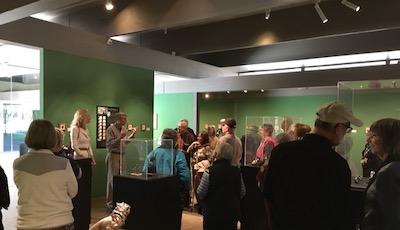 Crowds at the Exquisite Miniatures Exhibition