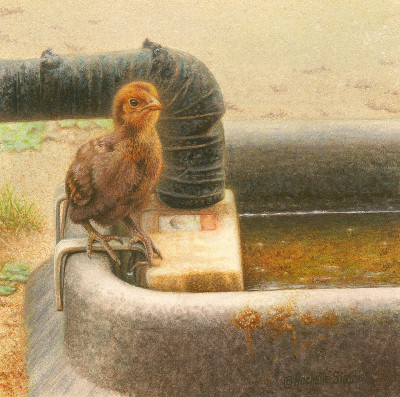 Chick painting by Rachelle Siegrist