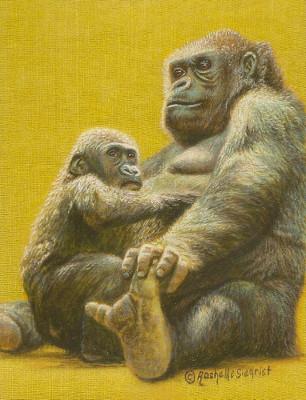 Gorilla Painting by Rachelle Siegrist