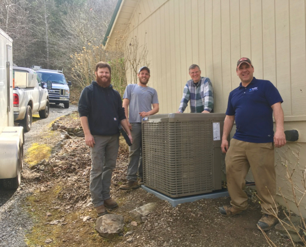 Wes Siegrist with crew that installed our new HVAC system