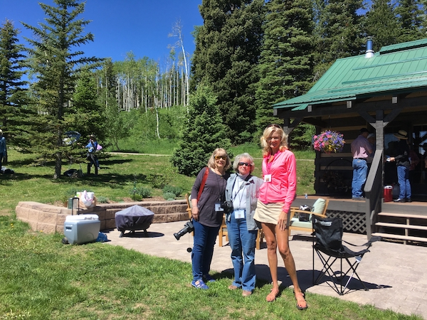 Diane Mason, Laney and Rachelle Siegrist in Colorado