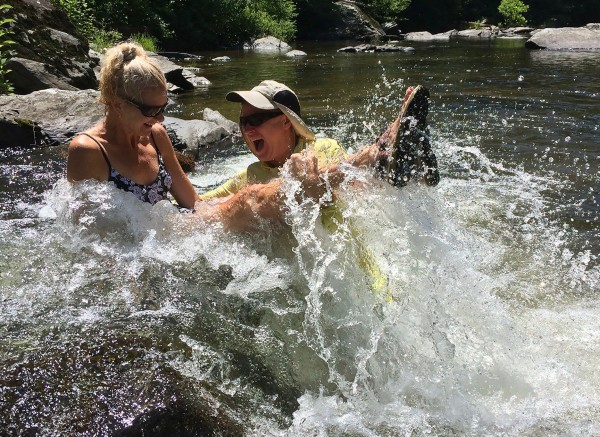 Wes and Rachelle Siegrist enjoying the water