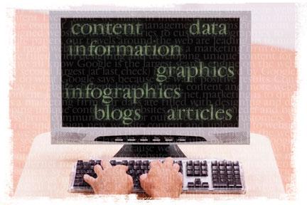 computer screen displaying website content