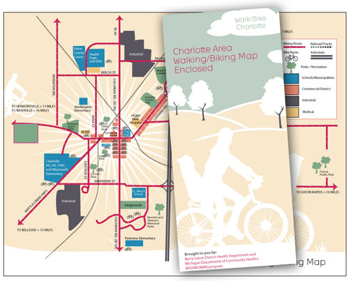 Charlotte Area Biking Walking Map - Connection Group