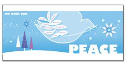 customer greeting card holiday card peace card