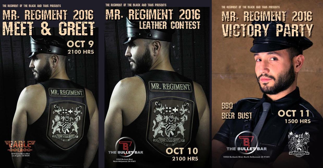Mr. Regiment 2016 Leather Contest Weekend Begins Tonight