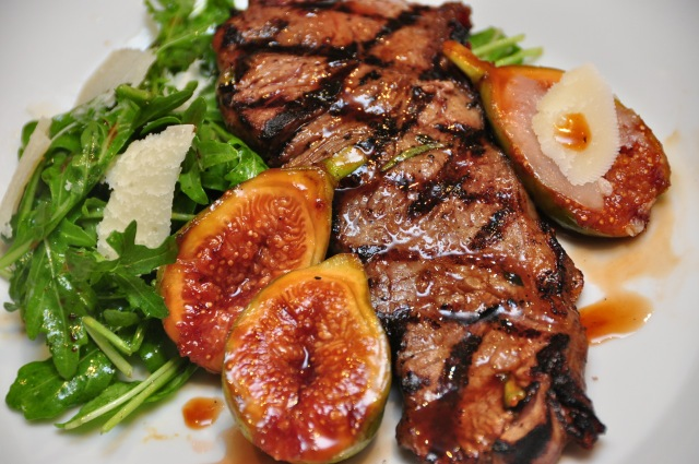 Sirloin Steak with Grilled Figs Vino Cotto
