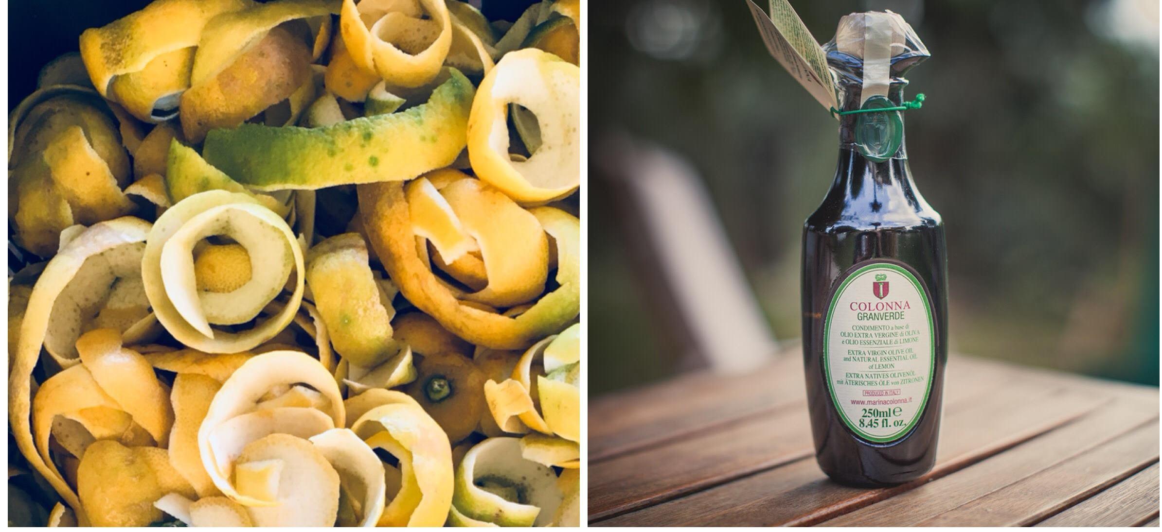 Bio Zitronenschalen und das fertige Granverde