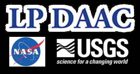 LP DAAC, NASA & USGS logos