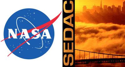 NASA & SEDAC logos