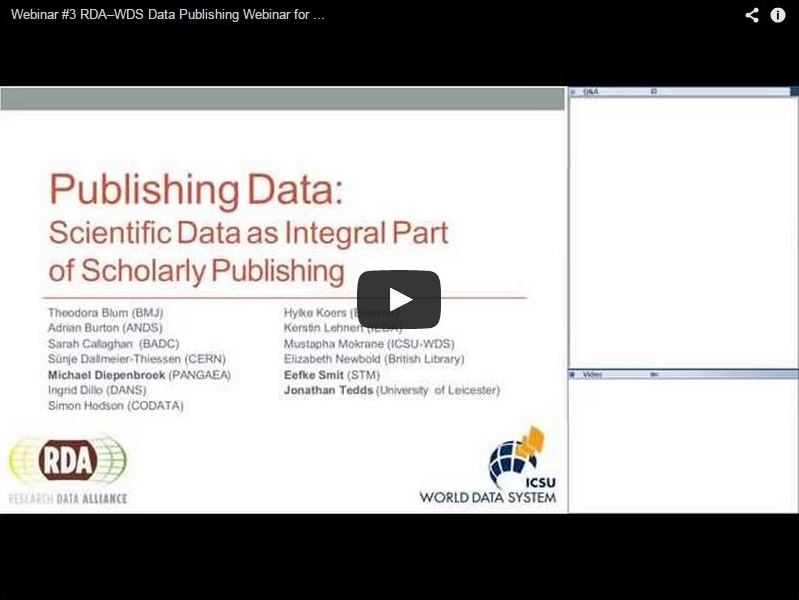 Publishing Data Webinar Video