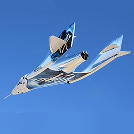 Virgin Galactic's second SpaceShipTwo - photo by Enrico Palermo from the chase plane