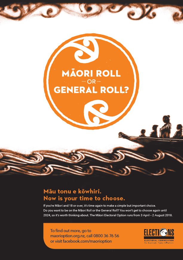 Māori Electoral Option poster