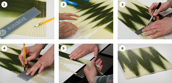 Six steps to creating a plate with the chevron design