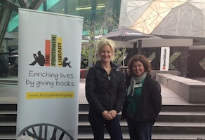Shayne Francis (left) with Lucy Louca, Melbourne Volunteers Manager