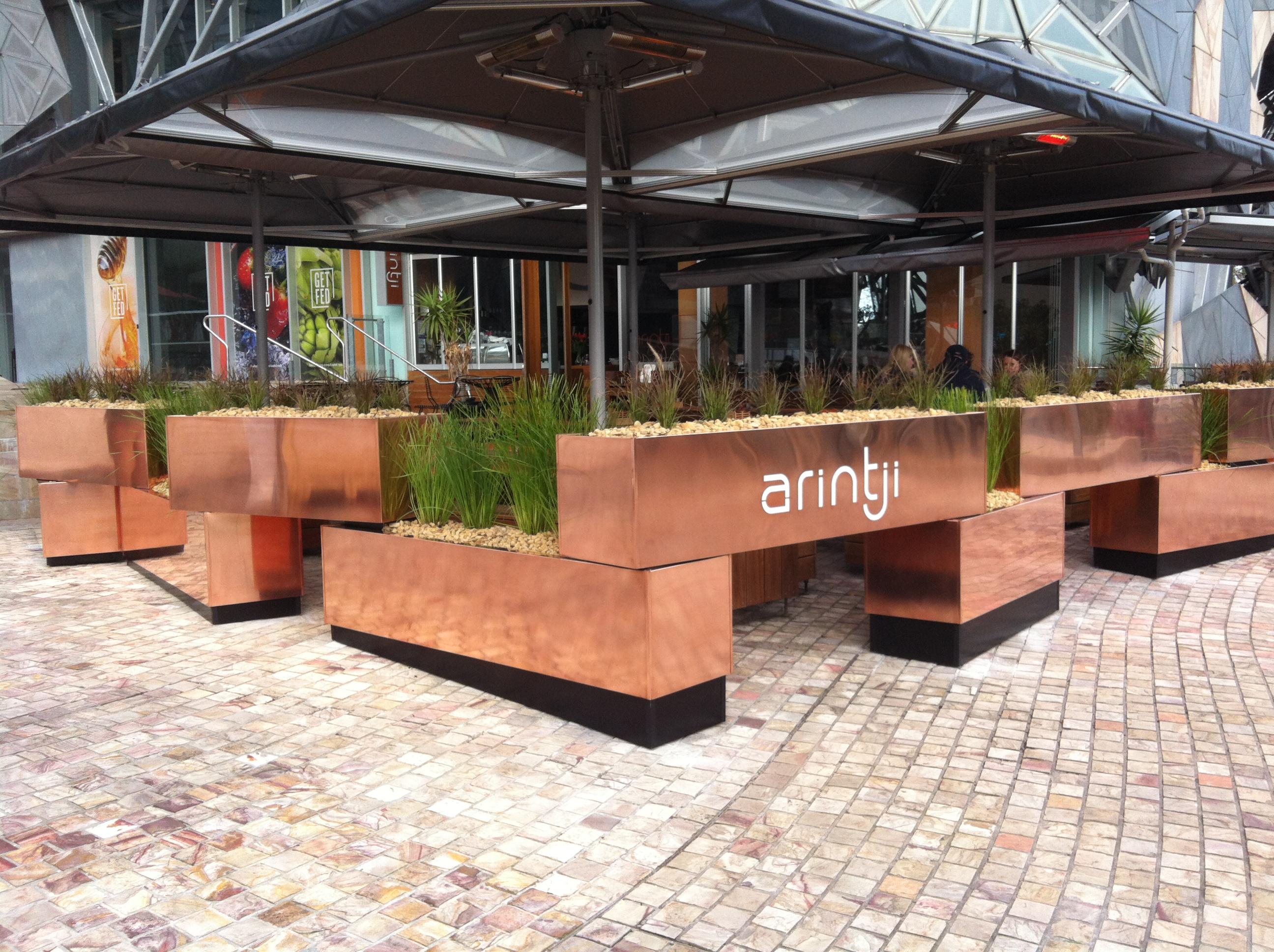 h2o designs Arintji Melbourne copper planter box