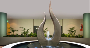 h2odesigns.com.au - Pyrmont Apartment Water Feature with LICOM76, lightweight concrete composite - achieve the unachievable organic shapes