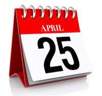 April 25