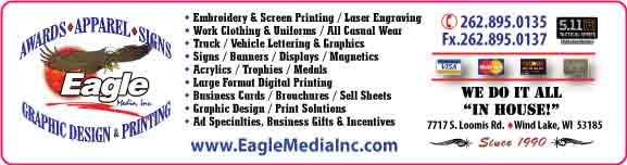 Eagle Media Inc.  Awards, Apparel, Signs, Graphic Design & Printing