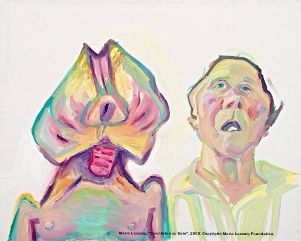 "Maria Lassnig, ""Zwei Arten zu Sein"", 2000. Copyright: Maria Lassnig Foundation."