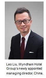 Leo Liu, Wyndham Hotel Group's newly-appointed managing director, China.