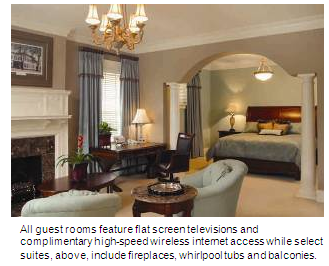 A suite at the Inn at USC Wyndham Garden Columbia