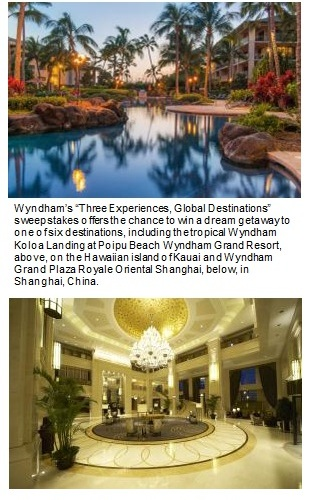 Wyndham Gives Facebook Fans the Chance to Win a World-Class Getaway; Sweepstakes offers trip for two to one of six dream destinations