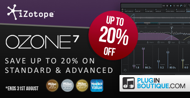 iZotope Ozone 7 Sale - Up To 20% Off