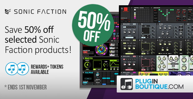 Sonic Faction Sale - 50% Off