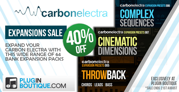 Plugin Boutique Carbon Electra Expansions Sale (Exclusive) - Up To 40% Off