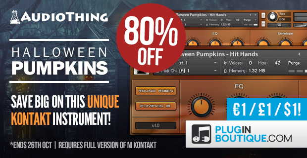 AudioThing Halloween Pumpkins Kontakt Instrument - 80% Off