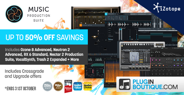 iZotope Music Production Suite Sale - Up To 50% Off