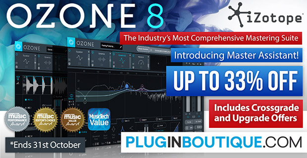 iZotope Ozone 8 Introductory Sale - Up To 33% Off